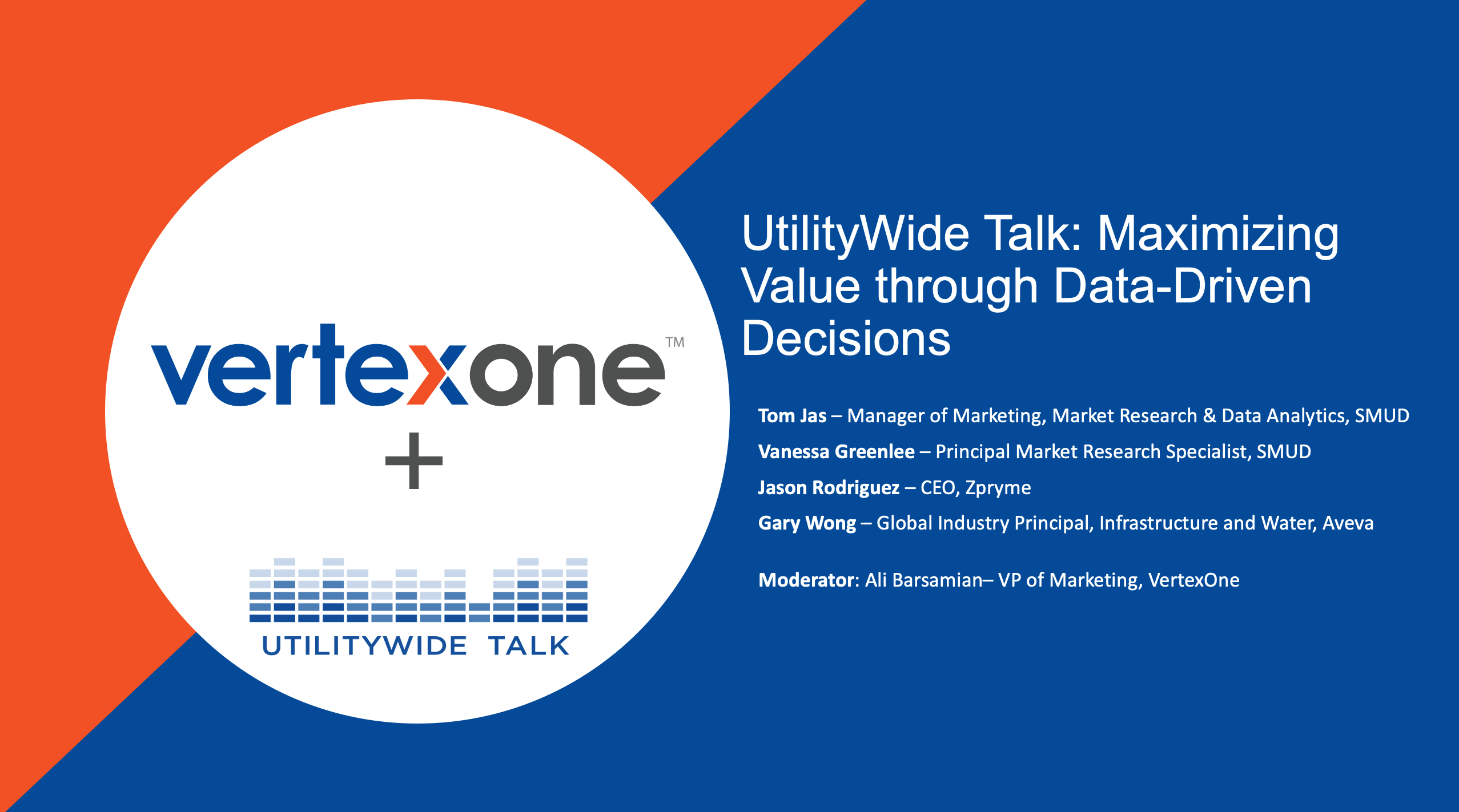 UtilityWide Talk: Maximizing Value through Data-Driven Decisions 9.22.2021